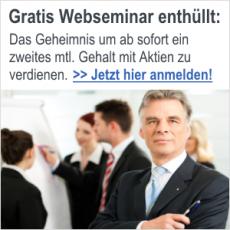Gratis Webseminar: Zweites mtl. Gehalt (fast) ohne Arbeit mit Aktien zu verdienen
